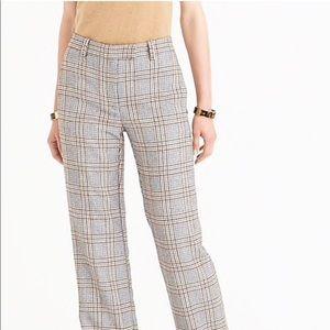 Jcrew Wool Blend Glen Plaid Trousers size 10